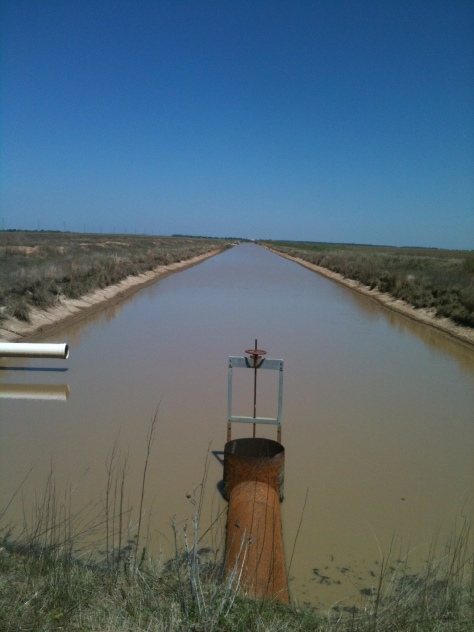 Tailwater recover irrigation ditch